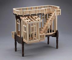 Les magnifiques créations en bois de l'artiste et designer américainTed Lott, qui utilisedes vieux meubles comme base pour ses expérimentationsarchitec