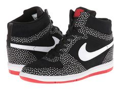 Nike Force Sky High Sneaker Wedge Black/University Red/White/White - Zappos.com Free Shipping BOTH Ways