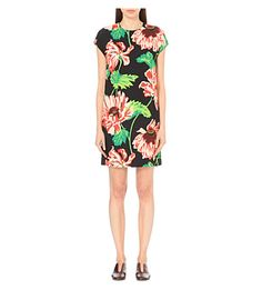 STELLA MCCARTNEY Floral-Print Stretch-Crepe Dress. #stellamccartney #cloth #dresses