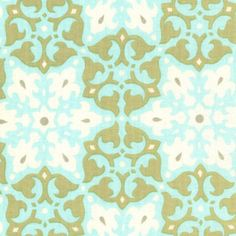 "Amy Butler's ""Mosaic In Olive"" from her Daisy Chain collection."