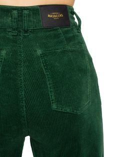 Swedish Hasbeens HasJeans Mom Deep Green Corduroy