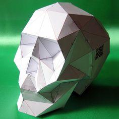 Calavera de papel SkullsForChange por Xtellar en Etsy