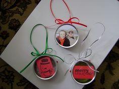 Kerr jar lid ornaments