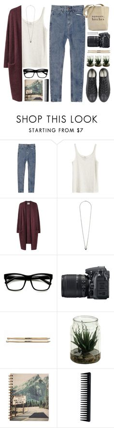 """""""Smells like teen spirit"""" by tania-maria ❤ liked on Polyvore featuring H&M, Acne Studios, philosophy, Topshop, Retrò, Nikon, GHD and Converse"""
