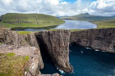 Lake Sorvagsvatn, one of the most iconic things to see in the Faroe Islands.