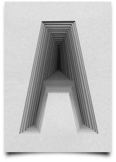 Tony Ziebetzki graphic design calligraphic letter A
