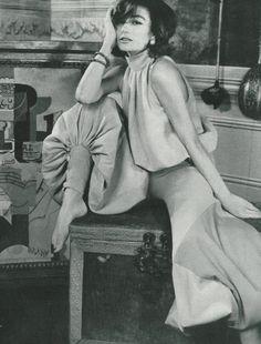 Anouk Aimee by Henry Clarke, 1965.