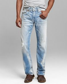 True Religion Jeans - Ricky Super T Straight Fit in Hastings Pass | Bloomingdale's