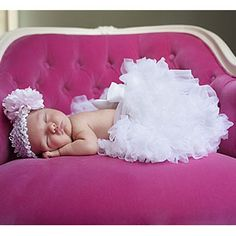 Angel White Newborn Pettiskirt