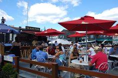 Black Pearl Restaurant Patio, Newport, Rhode Island         #VisitRhodeIsland