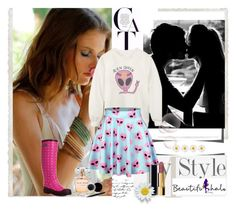 """#7 beautifulhalo"" by selmina ❤ liked on Polyvore featuring moda, Hoss Intropia, Elie Saab, Chanel i Mary Kay"