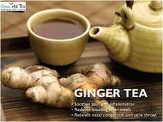 Did you know #gingertea is blessed with great health benefits? #GingerTea soothes pain and inflammation, reduces bloating after meals and helps relieve sore throat.