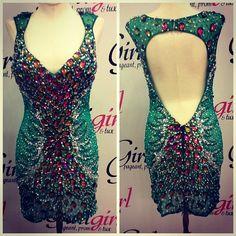 This dress is rockin! Love the open back. #girligirlgowns #girligirlboutique