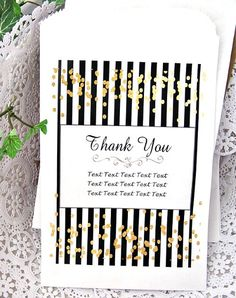 Personalized Gold Confetti Candy Treat Favor Bags (Set of 10) BUFFET-G023