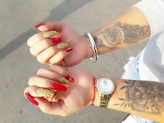 #nails #red # tattoo #godday