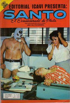 This is what happens when you make Luchadores detectives. El Santo Magazine #elsanto #vintage #trash