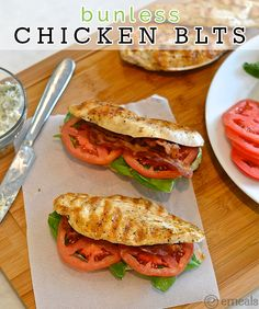 Bunless Paleo Chicken Blts