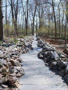 Stone River by Jon Piasecki « Landscape Architecture Platform Landscape Architecture, Landscape Design, Garden Design, Parque Industrial, Wetland Park, Stone Path, Public Garden, Forest Park, Landscaping With Rocks
