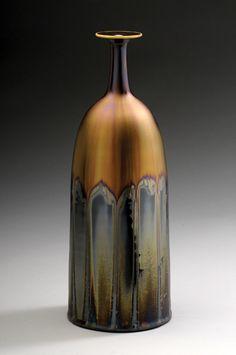 Ceramic bottle by  Hideaki Miyamura