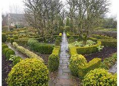 The Knot gardens at Barnsley House, UK