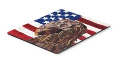Boykin Spaniel USA American Flag Mouse Pad, Hot Pad or Trivet