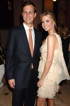 Ivanka Trump and husband, Jared Kushner Ivanka Trump Style, Ivana Trump, Donald And Melania, Trump Jewish, Trump Pence, Gorgeous Blonde, First Daughter, American Pride, Sweet Dress