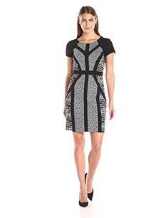 Sandra Darren Women's Cap Sleeve Mixed Media Sheath Dress, Black/White, 12 Sandra Darren http://www.amazon.com/dp/B014HXZS3Y/ref=cm_sw_r_pi_dp_XzG1wb08Z48KV
