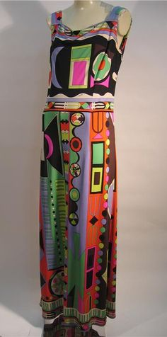 Emilio Pucci ~ the father of psychedelic fashion...great color and pattern....