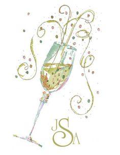 Custom Order / Champagne Note Cards w/Monogram