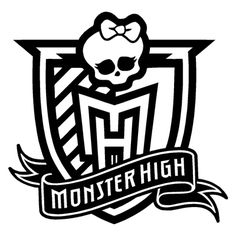 Monster High Logo Coloring Page