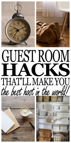 Guest room décor ideas for a budget. Everything you need to have the best guest room ever! Click through and see how!