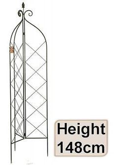 E2e Metal #148cm Decorative Garden Trellis #climbing Plant Rose #support  Obelisk, View