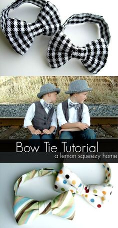 Sewing Patterns Pandora: Bow Tie Tutorial {a lemon squeezy home}