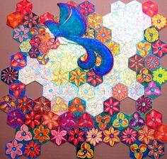 """Puzzle """"O Vôo do Beija-Flor"""" - Posição possível do beija-flor sobre as flores II - Por Antônia Sobral"""