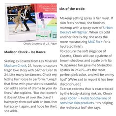 Figure Skater, Madison Chock, SOOTHEs her sensitive skin exasperated by frosty rink air.... #2014Olympics #Soshi #MadisonChock #SOOTHE #FigureSkater