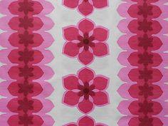 vintage 1960's curtain fabric