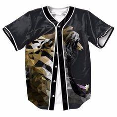 Tiger Art Geometry Danger Animal Nature Baseball Jersey #Tiger #Art #Geometry #Danger #Animal #Nature #Baseball #Jersey