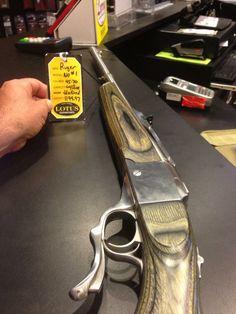 Ruger No 1 single shot hunting rifle.