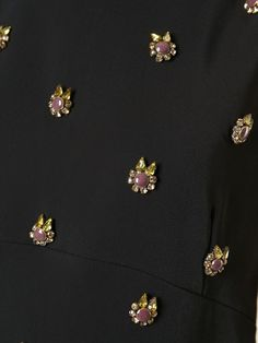 Black silk embroidered embellished flower top from Marni featuring a round neck, a sleeveless design, a rear zip fastening and a rear central vent.