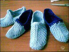 Zapatillas con tres bucles (agujas de tejer). Discusión en LiveInternet - Servicio de Diarios en Línea de Rusia