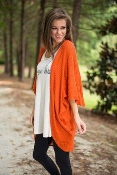 Always Turn To You Kimono, Pumpkin - The Mint Julep Boutique