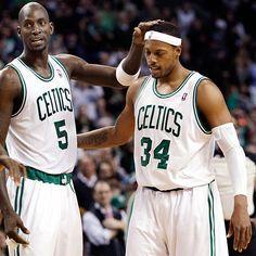 Kevin Garnett and Paul Pierce..teammates.