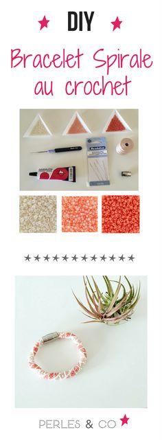 Vous adorez la spirale au crochet ? Voici un nouveau tuto pour créer un bracelet rose et corail avec des perles de rocaille 11/0, parfait pour l'été qui arrive!