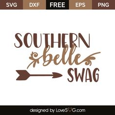 *** FREE SVG CUT FILE for Cricut, Silhouette and more *** Southern belle swag