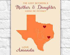 Gift for Mom Mothers Day Present, Personalized Gifts, Long Distance, Texas - Thoughtful, Mother in Law, Grandma Nana Grandmother Daughter