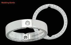 #kissingdiamonds #wedding bands