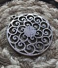 Ancient Celtic Wealth Drawing Magic Silver Necklace Wiccan Pagan Rare Art Boho