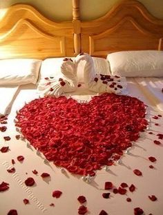 cute idea to make our room look romantic on special nights...  I actually did this last year...did NO good!!