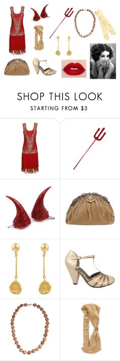 """""""Vivi @ Dethrone - Halloween Ball"""" by receivedpersonality ❤ liked on Polyvore featuring Kastur Jewels and Namrata Joshipura"""