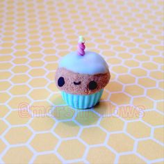 Birthday Cupcake Charm by Marshfellows